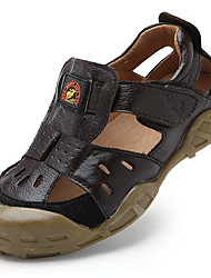 Boy's Sandals Summer Sandals Leather Outdoor Flat Heel Others Blue / Brown / Khaki Others