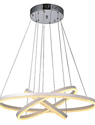 Modern  Acrylic Pendant Light Fixtures Chandeliers Lamps Lighting for Indoor Home Hotel Bar with 3 Ring 72W CE FCC ROHS