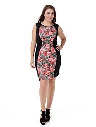 Women's Plus Size Party Dress Large Size Print Casual Club Dress Fashion Party Dress