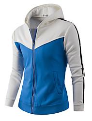 Pull à capuche & Sweatshirt Pour des hommes Mosaïque Décontracté / Sport / Grandes Tailles Coton Manches longuesOrange / Rouge / Blanc /