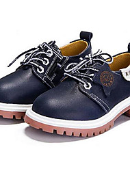 Boy's/Girl's Unisex Oxfords Spring / Fall / Winter Comfort Nappa Leather Casual Black / Brown Sneaker