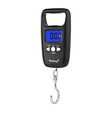 balança portátil eletrônica (escala máxima: 50 kg, preto)