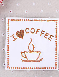 100% virgin pulp 20pcs I love Coffee Wedding Napkins