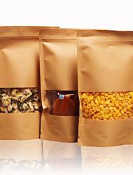 getrocknete Früchte Tee Backpapiertüten Druckverschlussbeutel Kraftpapier Nahrungsmittelbeutel ein Satz von zehn Selbst Fenster