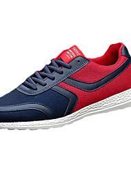 Herren-Sneaker-Lässig Sportlich-Tüll-Flacher Absatz-Komfort-Schwarz Blau Orange