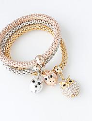 Bracelet Charmes pour Bracelets Alliage Chouette Mode Bijoux Cadeau Doré / Argent,1set