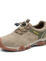 Da uomo Sneakers Comoda PU (Poliuretano) Primavera Autunno Casual Escursionismo Comoda Elastico Piatto Nero Marrone Blu Cachi Piatto