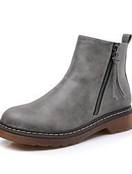 Women's Boots Winter Combat Boots / Round Toe  Dress Low Heel Others Black / Yellow / Gray Walking