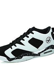 Men's Sneakers Spring / Summer / Fall / Winter Microfibre Athletic Flat Heel  Black / White / Black and White Basketball