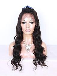 evawigs 100% 12-28 pouces brazilian cheveux vierges couleur naturelle pleine perruque de dentelle vague naturelle densité de 150% pour les