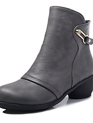 Women's Dance Shoes Boots Breathable Cotton-padded Low Heel Black/Red/Brown/Gray