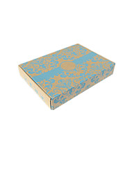Yellow Color Packaging & Shipping Yellow Kraft Pattern Printing Packaging Box A Pack of Fourteen