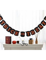 Popular Halloween Garlands Banner Trick Or Treat Party Decoration Hanging Flag