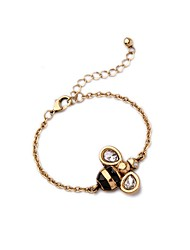 Bohemian Rhinestone Chain Bracelets Golden Bea Bracelet Fashionable Geometric Alloy Jewellery