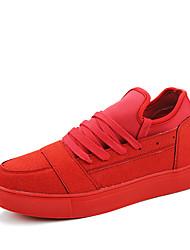 Da uomo-Sneakers-Casual / Sportivo-Ballerine-Piatto-PU (Poliuretano)-Nero / Rosso / Grigio