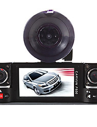 Dual Lens Car Camera Vehicle DVR Dash Cam Two Lens Video Recorder F600