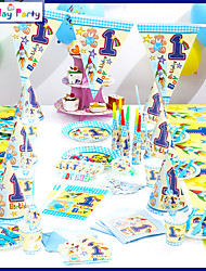 Birthday PartyDecorations-16Items/Set Paper Decoration Birthday  Theme PinkSpring / Summer / Fall / Winter