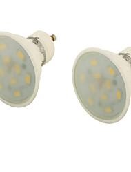 5 GU10 Spot LED MR16 10 SMD 5730 400 lm Blanc Chaud Décorative AC 85-265 V 2 pièces