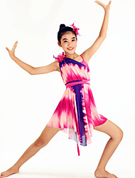 Ballet Dancewear Adults' Children's Floral Printed Dropping Ruffles Lyrical Dress