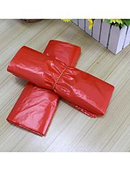 saco de plástico portátil saco de colete vermelho para o saco de compras de supermercado