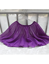 Ballet Bottoms Children's Training Chiffon Pleated 1 Piece Ballet Sleeveless Natural Skirt