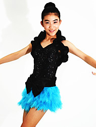 Dancewear Ruffle Shrug Sequin Leotard And Feather-Skirt Jazz/Modern Cheerleader Dance Costumes (More Colors)