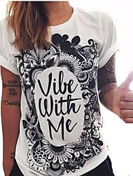 Tenue Punk Cosplay Vêtements de Lolita Blanc Imprimé Manches courtes Pour Coton