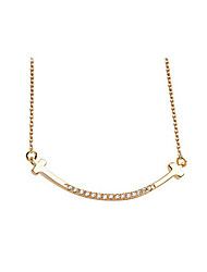 Necklace Chain Necklaces Jewelry Party / Daily Fashionable Zircon / Gold Plated Gold / Silver 1pc Gift