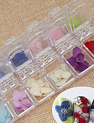 36PCS Natural Dried Flower Hydrangea  UV Nail Art Decorations