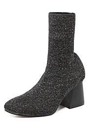 Damen-Stiefel-Kleid / Lässig-Stoff-Blockabsatz-Absätze / Komfort / Neuheit / Schneestiefel / Stifelette / Pumps / Spitzschuh / Modische