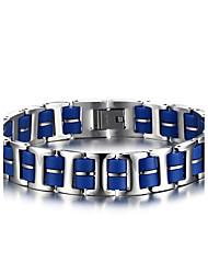 Armbänder ID Armbänder Edelstahl / Silikon Kreisform Modisch Halloween / Geburtstag / Party / Alltag / Normal Schmuck Geschenk Blau,1