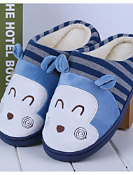 Unisex Slippers & Flip-Flops Fall / Winter Comfort Cotton Casual Flat Heel Others Blue / Pink / Red / Gray Others