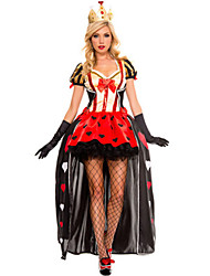 Costumes More Costumes Halloween / Oktoberfest Red Patchwork Terylene Dress / More Accessories