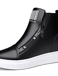 Women's Sneakers Spring/Fall/Winter Cowboy/Western Boots Synthetic Athletic / Casual Flat Heel Black/White Sneaker