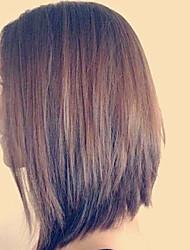 cabelo humano glueless rendas frente perucas de seda penteados retas para mulheres 8-12inch indiano perucas de cabelo virgem