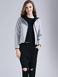 Eosciy Women's Round Neck Long Sleeve Hoodie & Sweatshirt Gray-80308