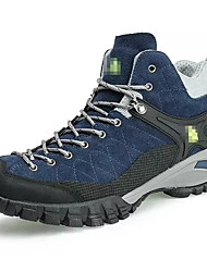 Men's Sneakers Fall Comfort Suede Outdoor Platform Lace-up Blue Gray Beige Hiking