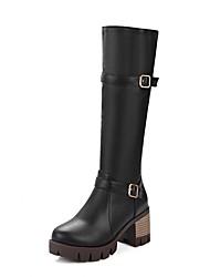 Dames Hoge hakken Lente Zomer Winter Platform Noviteit Cowboy/Westernlaarzen Snowboots Paardrijlaarzen Modieuze laarzenSynthetisch