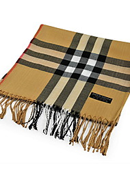 Classic Plaid Scarves Long Shawl Fringed Scarves Ms. Wild Male Jewelry