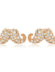 Stud Earrings Zircon Cubic Zirconia Alloy Fashion Jewelry Gold Jewelry Daily Casual 1pc