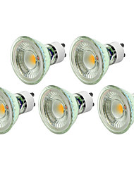 5pcs 5W GU10 Dimmable Warm/Cool White Color LED Spotlight COB Spot Light