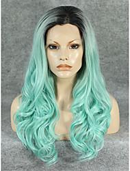Peruca com Renda Perucas para mulheres Verde Costume Wigs Perucas Cosplay
