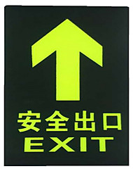 Shelf Fire Safety Exit Signs Affixed Luminous Fire Escape Signs
