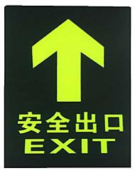 panneaux de sortie de sécurité incendie de conservation fixés signes d'évacuation d'incendie lumineux