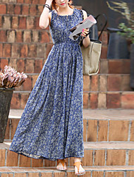 Women's Vintage Casual Micro Elastic Sleeveless Maxi Dress (Others)