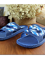 Unisex Slippers & Flip-Flops Summer Fall Comfort PVC Casual Flat Heel Beige Gray Navy Dark Green