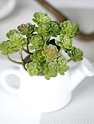 1 Branch Simulation Succulents Artificial Flowers Ornaments Mini Green Artificial Succulents Plants Garden Decoration