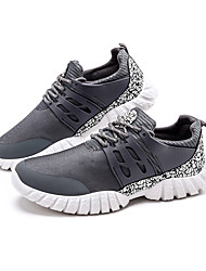 Atlético primavera sapatos masculinos / cair tecido conforto casual calcanhar plana preto / azul / vermelho sneaker / cinza