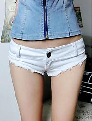 Pantalon Aux femmes Short simple Coton Micro-élastique