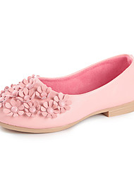 Flats Spring Fall Light Up Shoes PU Casual Flat Heel Flower Black Pink Red White Other